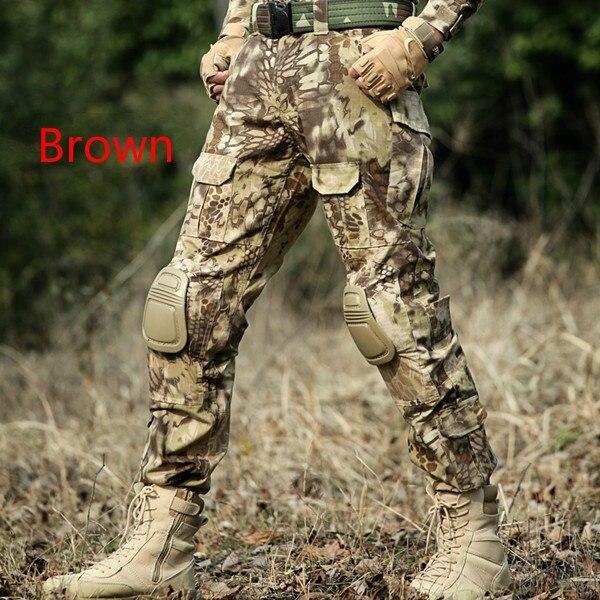 Hombres Militar táctico suelto Multi bolsillo Militar Cargo pantalones Ripstop camuflaje combate táctico ejército pantalones con rodilleras