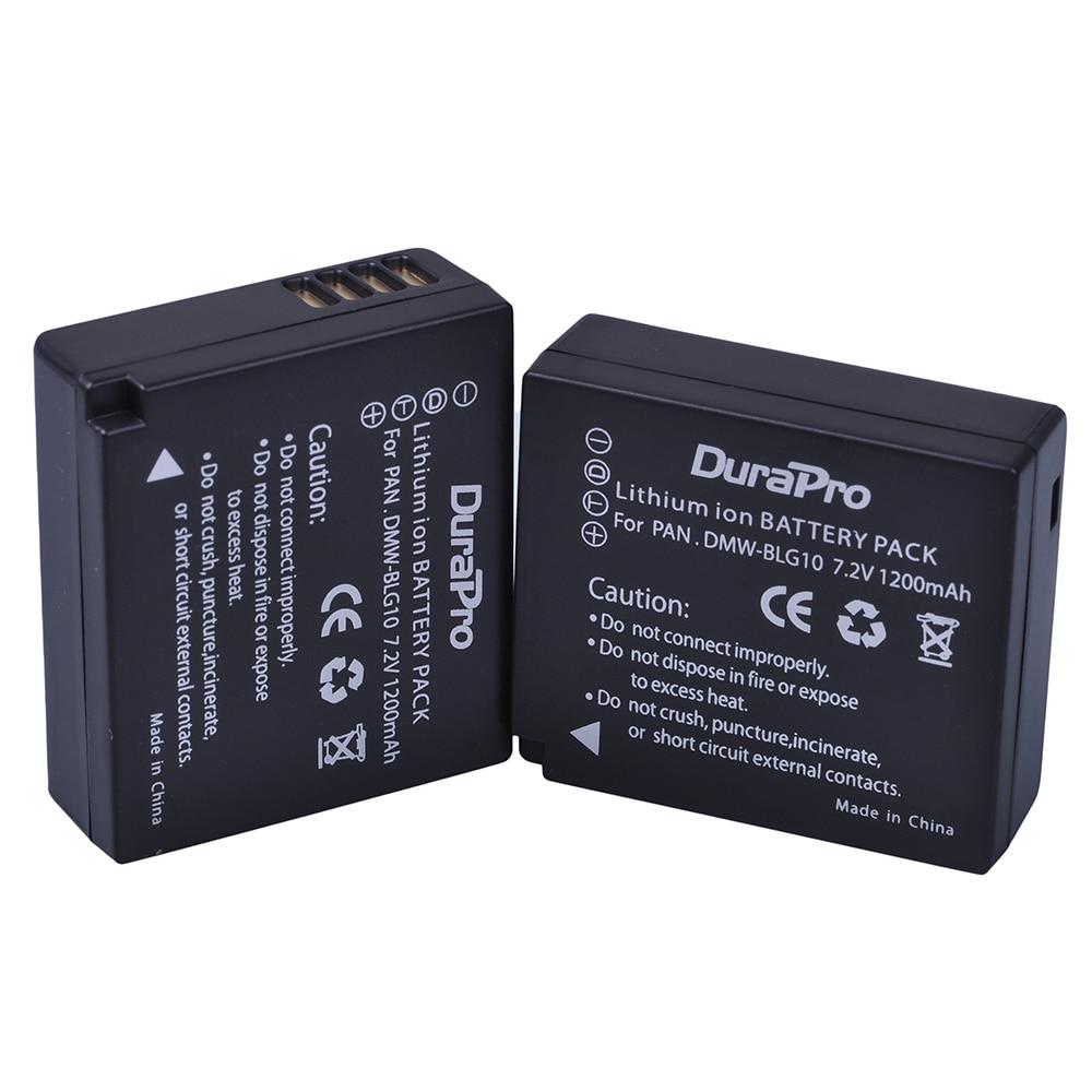 Аккумулятор для камеры DuraPro BLG10, 2 шт., для Panasonic LUMIX GF5 GF6 GX7 LX100 GX80 GX85 D-Lux (тип 109)