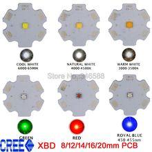 10x Cree XLamp XB-D XBD Q5 ciepły zimny neutralny biały zimny biały czerwony królewski niebieski zielony 3W wysokość dioda led dużej mocy emiter 12/14/16/20mm PCB