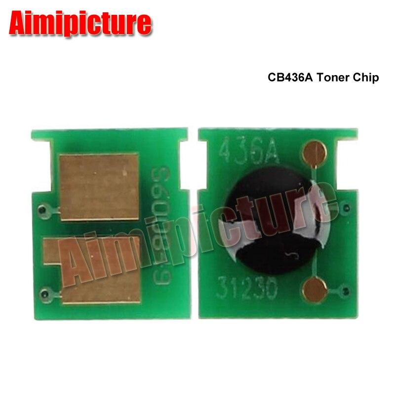 36 36A 436A CB436A 436 Chip de cartucho de tóner para HP LaserJet P1505/M1522/M1120 chip piezas de la impresora 100 unids/lote envío gratis