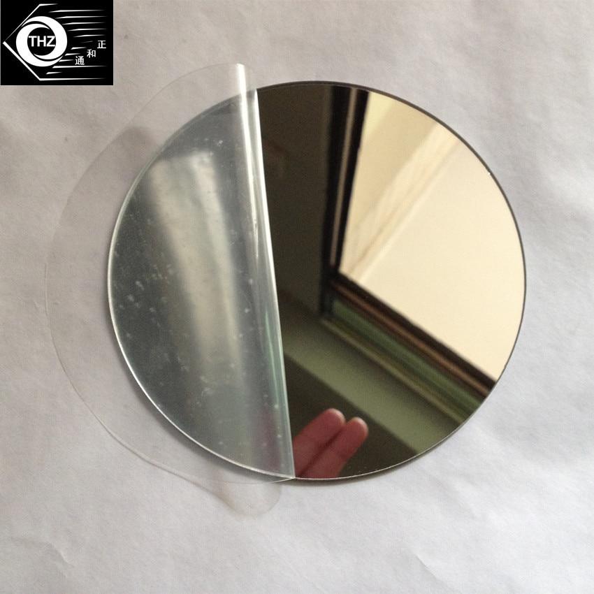 25pcs Diam 400x1mm Acrylic Mirrors Round Plastic PMMA Pier Glass Hotel Decorative Lens Not Easy To Broken