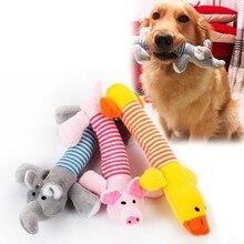 2019 heißer Haustier Katze Hund Spielzeug Squeak Lustige Biss Beständig Fleece Kauen Sound Spielzeug Interessant Elefant Ente Schwein Kleine Oder große Hund Spielzeug