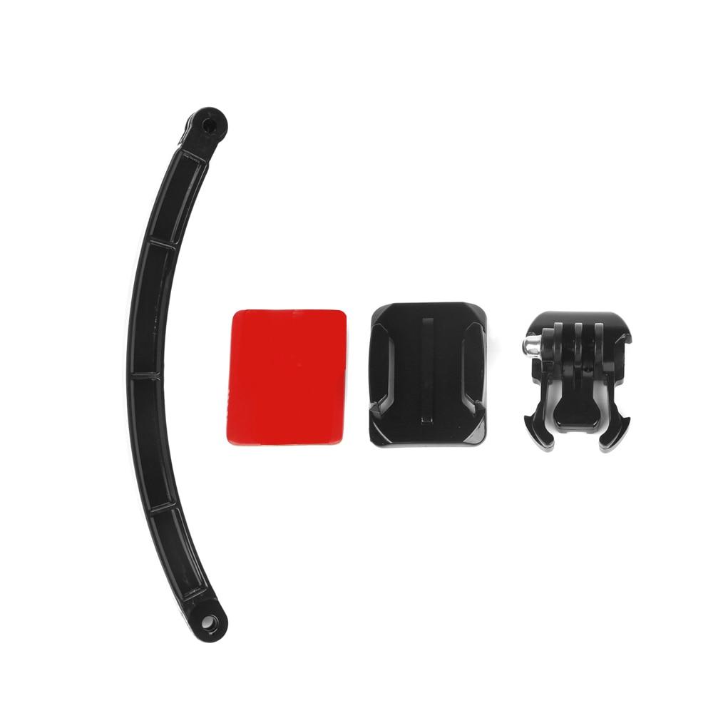 SHOOT ciclismo casco Accesorios de montaje de Selfie brazo superficie Adhesivo base para gopro 8 7 5 negro Sjcam Xiaomi Yi 4K Eken Cámara