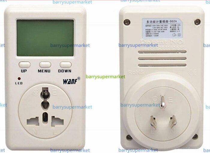 Probador de medidor de energía de potencia eléctrica de Mini vatios WAF de ahorro de energía de WF-D02A Monitor de amperímetro enchufe de Taiwán de voltaje de CA