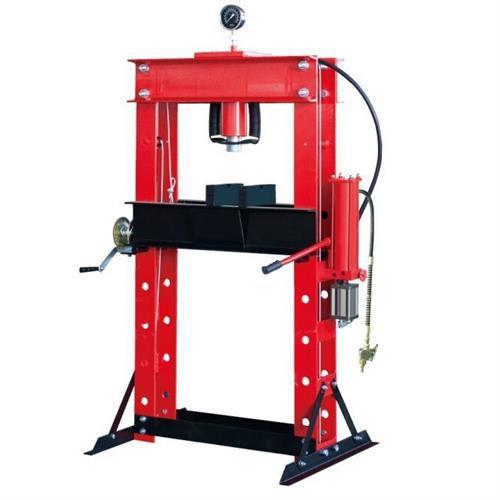 Prensa de 40 toneladas con mano de pórtico de doble columna Gague, mesa neumática con prensas hidráulicas