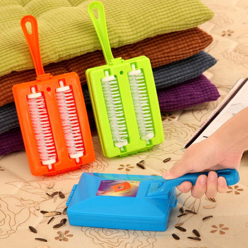 Ковровая щетка для стола, пластиковая ручная уборочная машина, щетка для кровати, щетка для кровати, очиститель грязи, коллектор, ролик для дома, инструменты для чистки