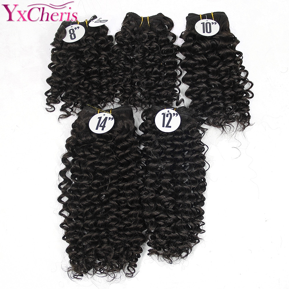 YXCHERISHAIR 8 14 &quotсинтетический шить в наращивание волос Ткань Связки Бразильский