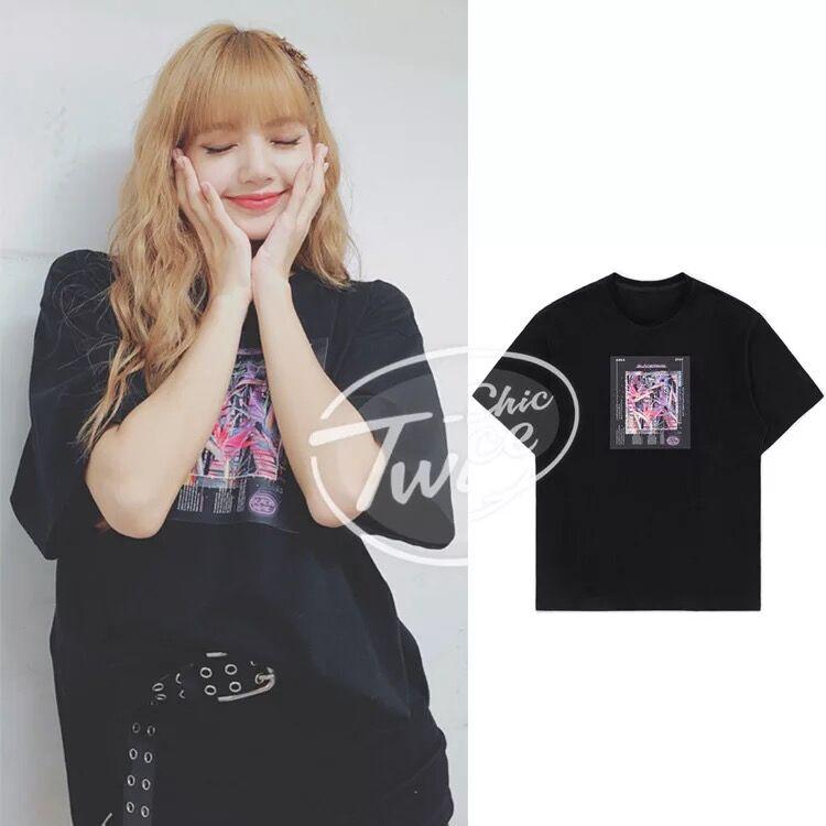 Kpop coreano celebridad hip hop cuello redondo Camiseta suelta mujeres coreano verano salvaje Harajuku negro Camiseta de manga corta chica tops