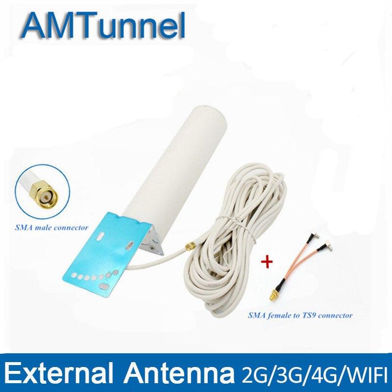 4G антенна 4G LTE антенна 3G антенна 10m TS9/CRC9/SMA Мужская антенна для Huawei 3G 4G Роутер модем