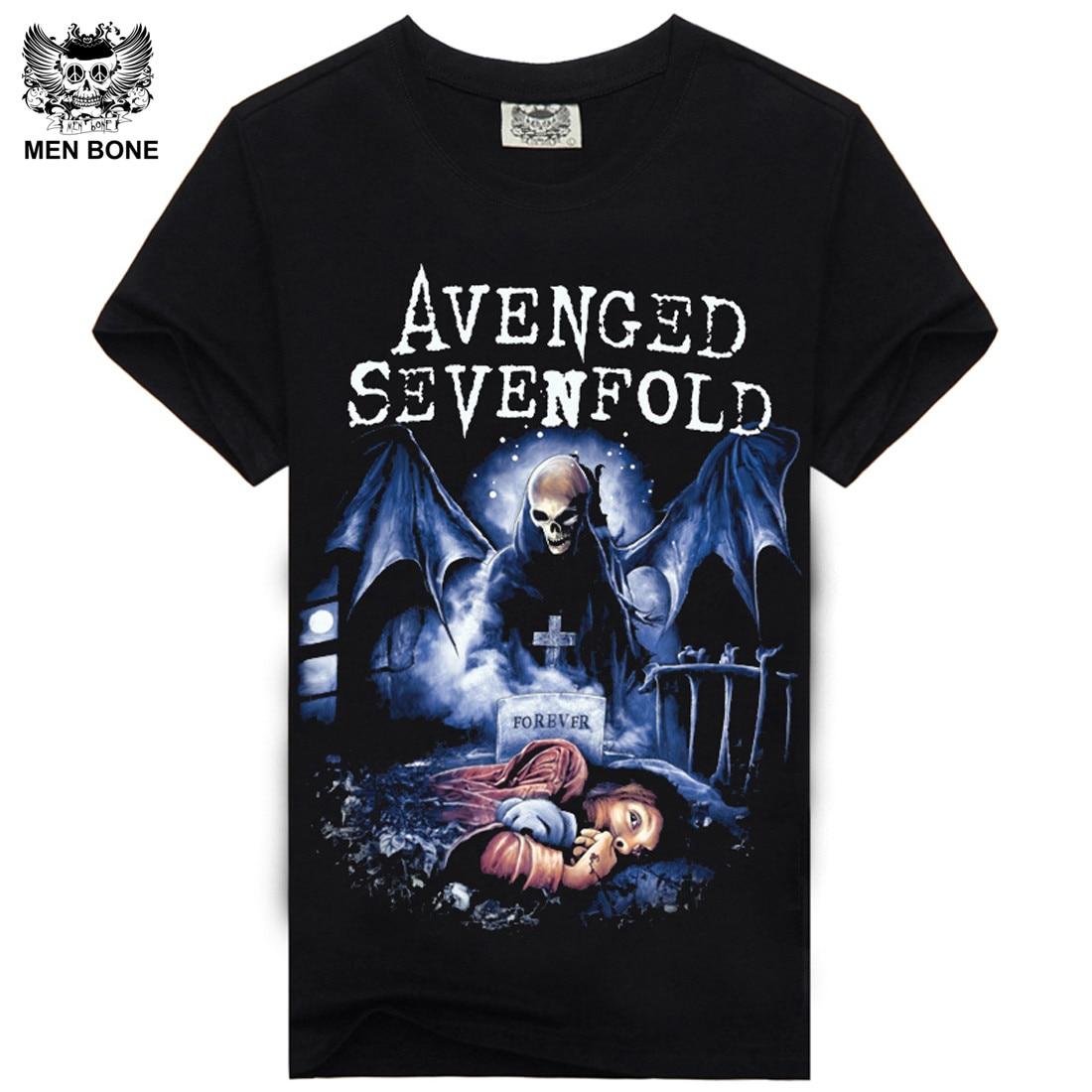 Мужская футболка с принтом Avenged, Повседневная футболка в стиле хип-хоп с коротким рукавом и о-вырезом
