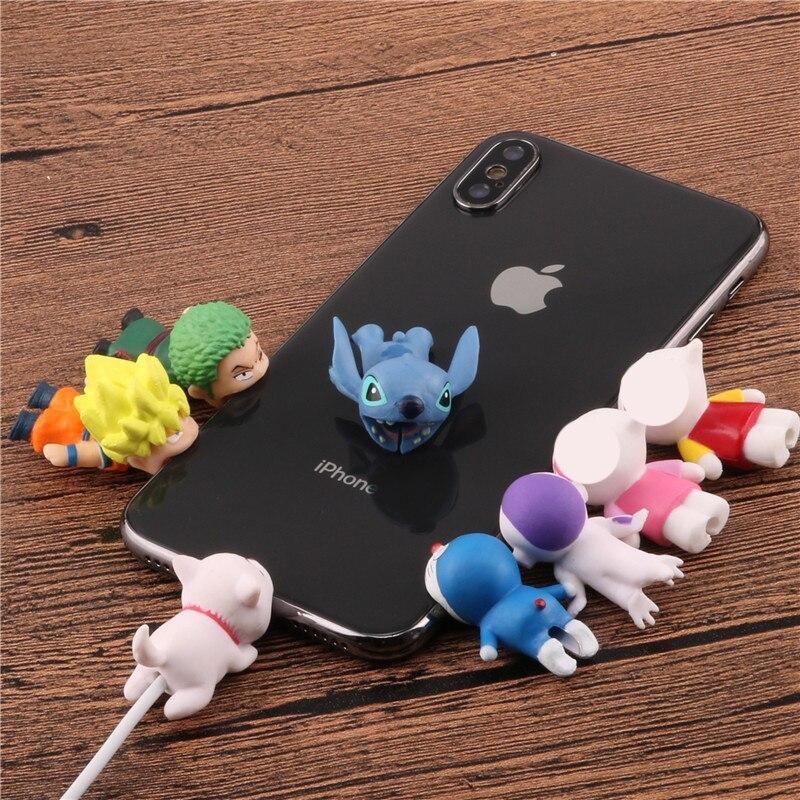 Мультяшный кабель для защиты от укусов животных кукольный Кабельный органайзер для намотки милый хомперс держатель провода для iPhone 5 6s 7 8 plus x Кабель