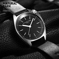 NATURAL PARK Leather Men Watch 2018 Top Brand Luxury Famous Wristwatch Male Clock Waterproof Quartz Watch Relogio Masculino