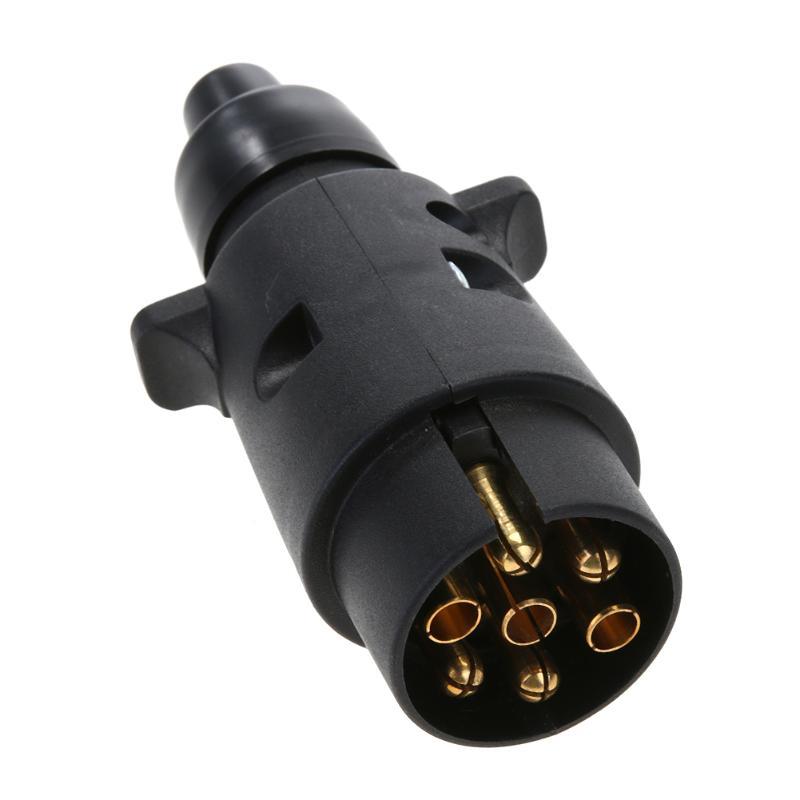 12 v 7 maneira redonda padrão europeu conector de plugue do carro plástico reboque do carro rvs 7 pinos tomada plugues para reboques rvs carro accessaries