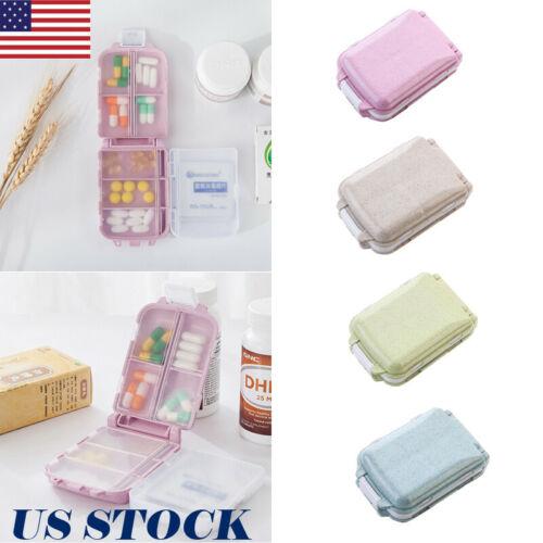 US Travel tres capas caja para píldoras plegable medicina tableta organizador titular portable cajas de almacenamiento
