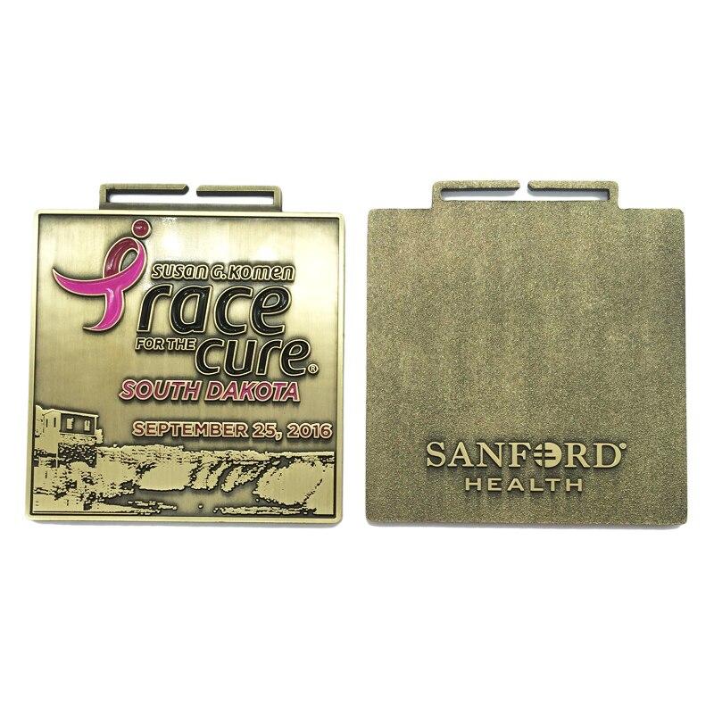 Ekologiczne złoto Dakota południowa wyścig dla lekarstwo Survivor Medal na pamiątkę skorzystaj z k 200163