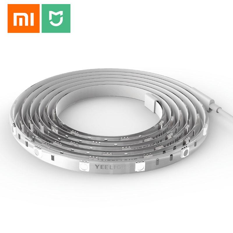 شريط إضاءة ذكي Xiaomi Yeelight 2m LED ، RGB ، wifi ، 16 مليون لون ، مرن ، افعلها بنفسك ، الإضاءة المحيطة ، التحكم عن طريق التطبيق