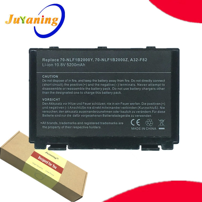 Juyaning batería de portátil para Asus A41 F52 F82 K61 K70 K40...