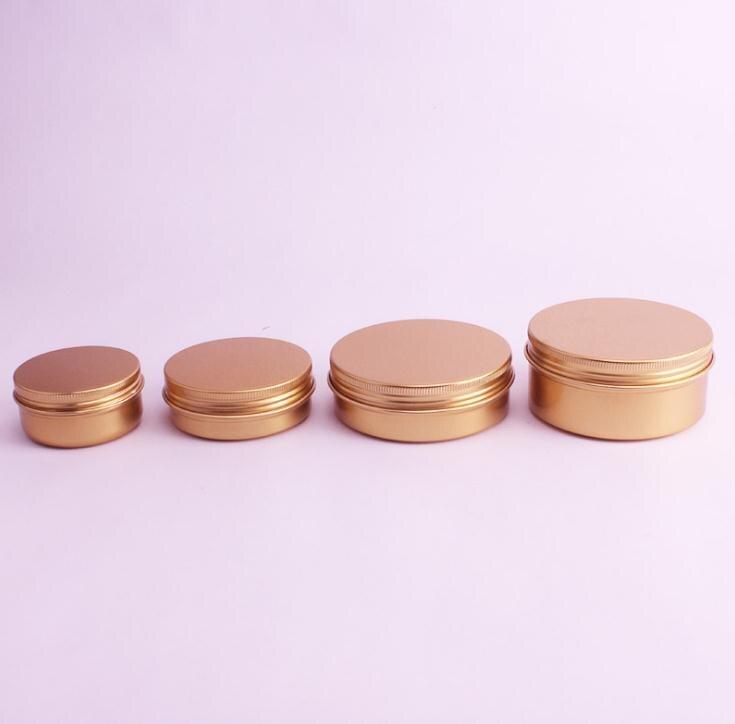 Envase para cosméticos crema aluminio de 50ML/60ML/100ML/150ML, pomada de Metal dorado rosa, frasco de barra de labios rellenable de aluminio SN1519