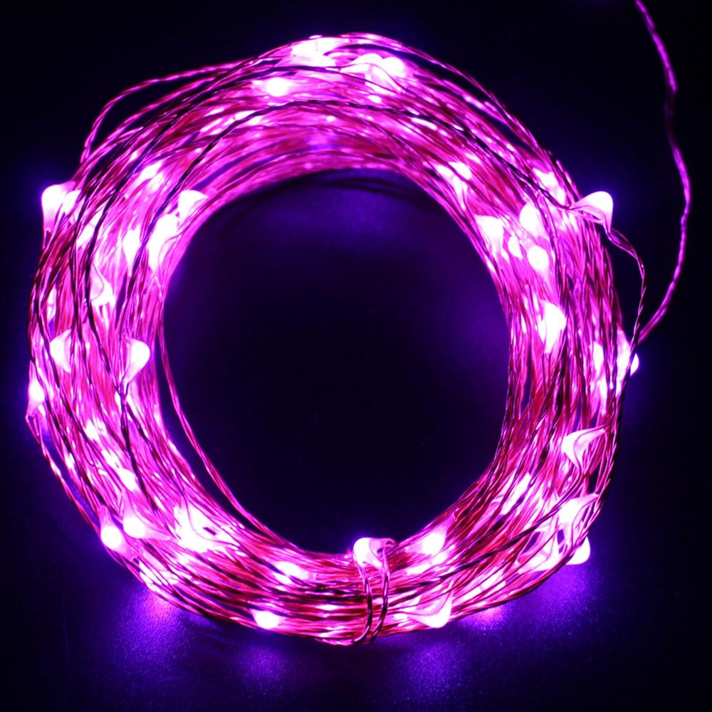 10 m 100 LED USB operado a prueba de agua alambre de cobre cadena luces para boda, hogar, dormitorio, Patio, jardín y fiesta, decoración de vacaciones