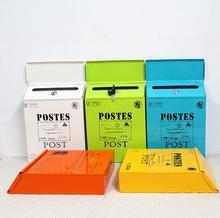 Metall Mailbox Mit Schloss Wand Vorschlag Box Kaffee Shop Dekoration Hochzeit Bar Postfach Brief Mail Box Hause Dekoration