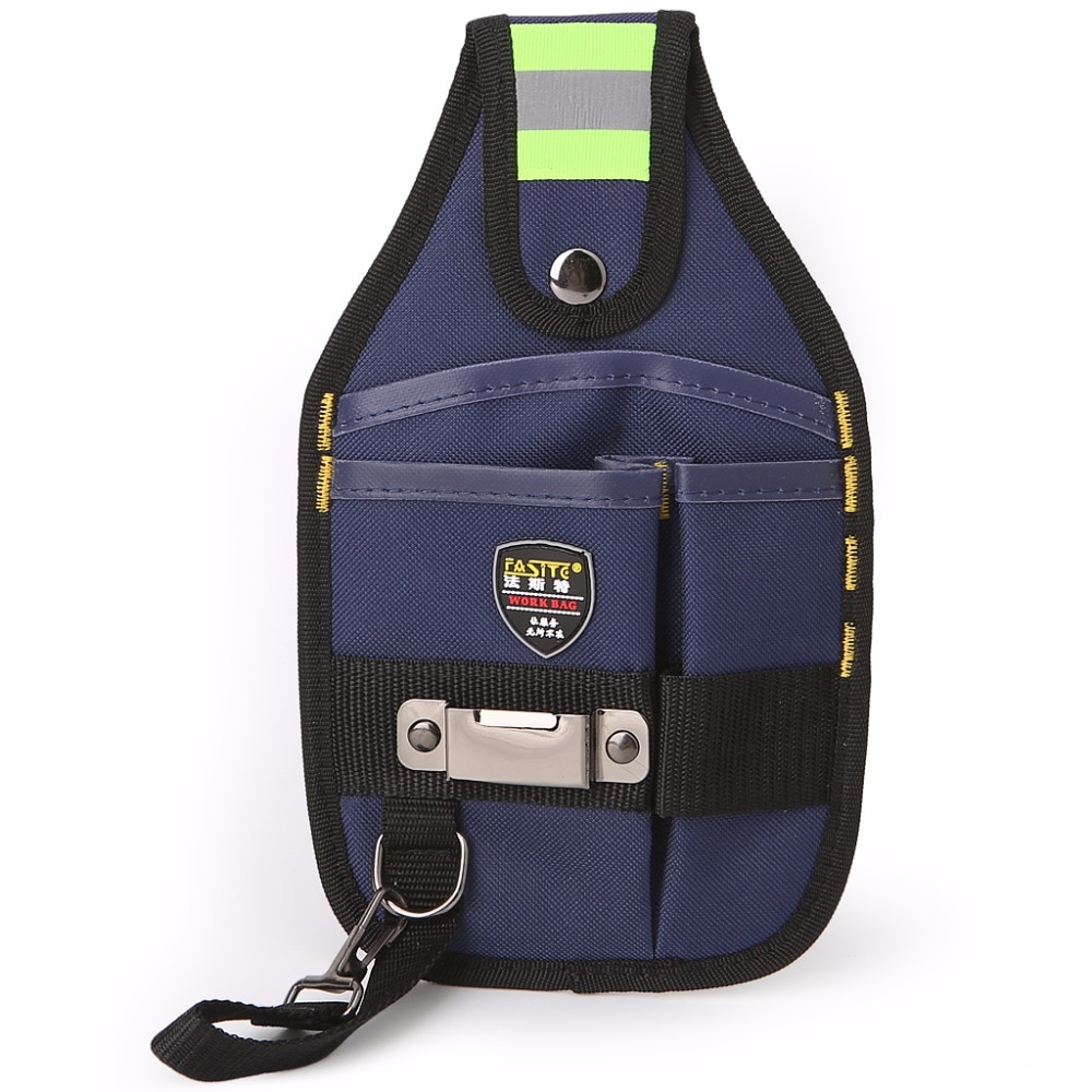 Multi-Pockets 600D oxford Canvas 3-Pocket Professional Electrician Tool Bag Tape Buckle Work Belt Pouch