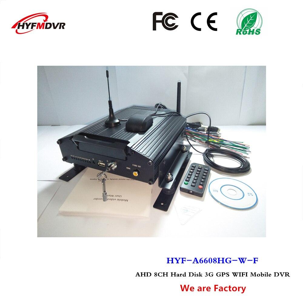 3g gps wifi mdvr 8 kanaals hard disk surveillance video camera milieusanering voertuig mobiele DVR NTSC/PAL systeem