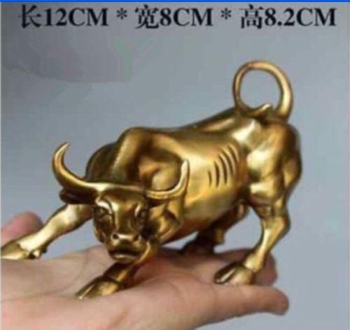 Xd 003428, estatua de buey de Toro feroz, bronce, calle, gran pared