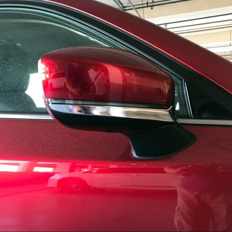 2 piezas inferior o superior lado accesorios ABS cromo espejo retrovisor de coche recorte cubierta de la raya para Mazda CX-9 CX9 2016 2017, 2018