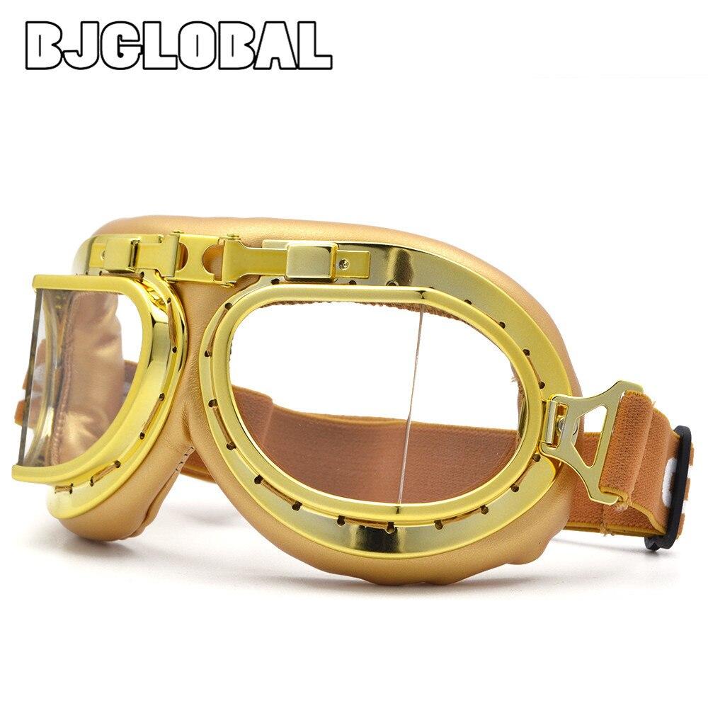 2019 nuevas gafas de motocicleta casco a prueba de viento Anti-UV moto gafas WWII Vintage para Harley piloto gafas Retro Jet