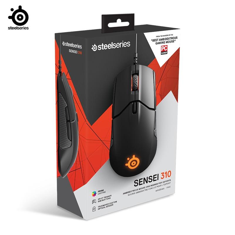 جديد Steelseries Sensei 310 الفأرة البصرية السلكية الألعاب RGB ضوء التنفس FPS الألعاب للبقاء على قيد الحياة ل LOL CF