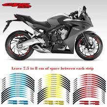 New high quality 12 Pcs Fit Motorcycle Wheel Sticker stripe Reflective  Rim For Honda CBR650F