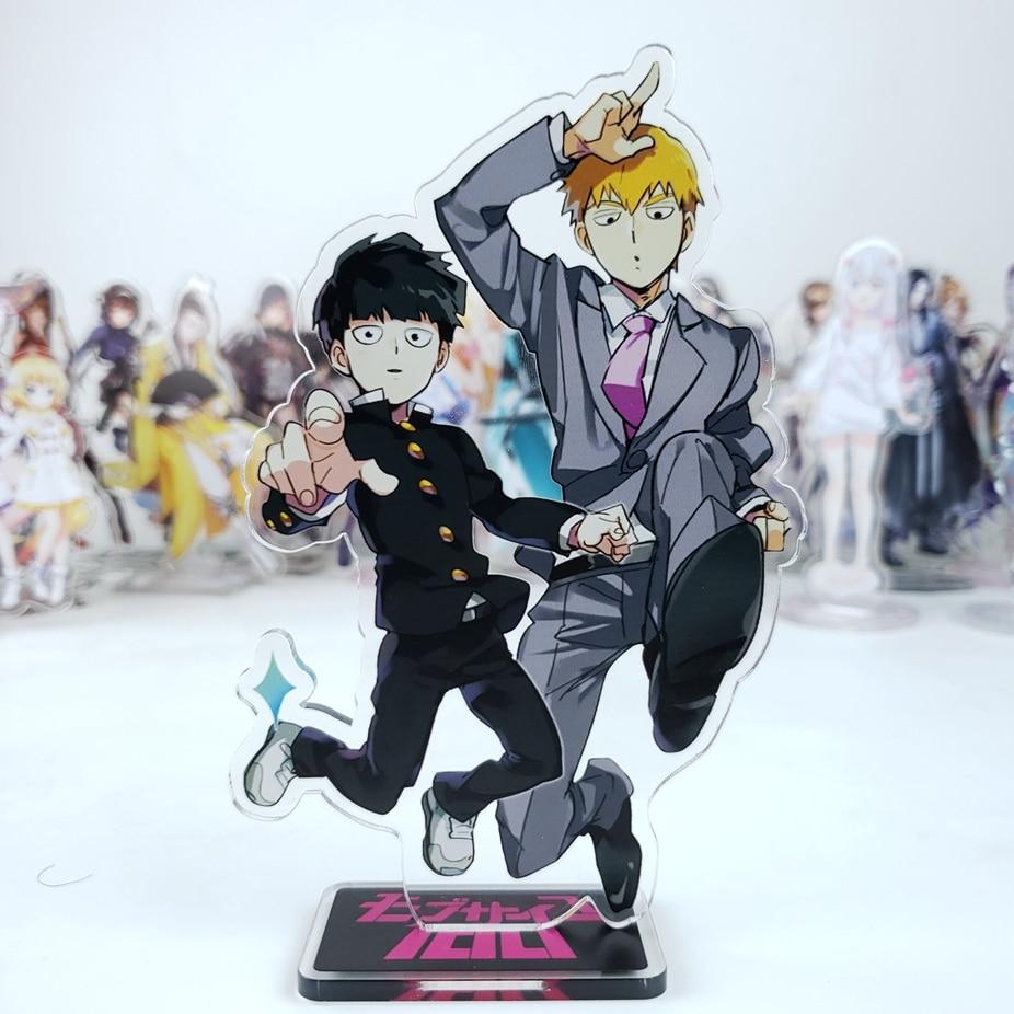 Anime Mob Psycho 100 Mobu Saiko Hyaku Reigen Arataka Kageyama Kageyama Shigeo Cosplay Stand Figure Model Acrylic Desk Decor Gift