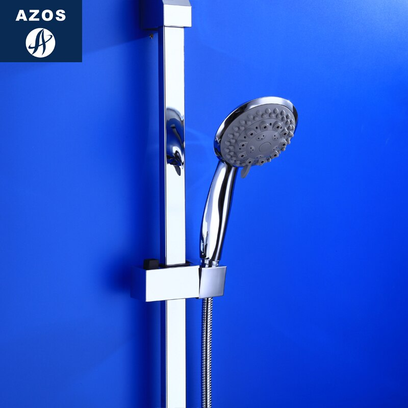 Azos-قضيب دش دوار من النحاس والكروم ، 6 وظائف ، موفر للمساحة ، SquareHSSJ015D