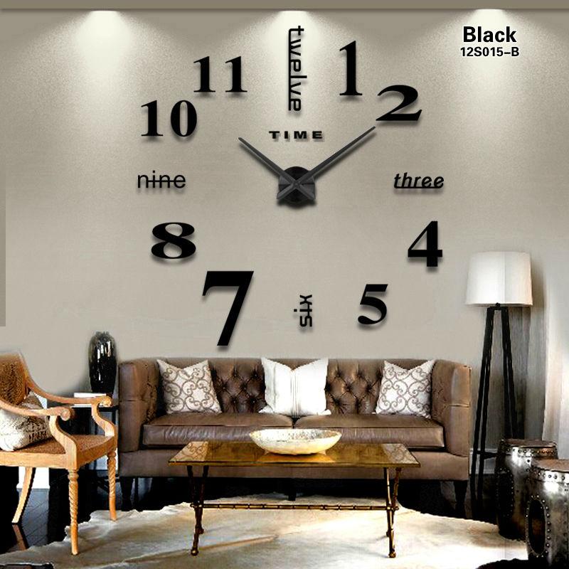 2020 new Home decoration big mirror wall clock modern design 3D DIY large decorative wall clocks watch wall unique gift