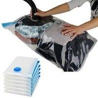 Прозрачная вакуумная сумка для одежды, Домашний Складной Компактный органайзер для хранения, для экономии места