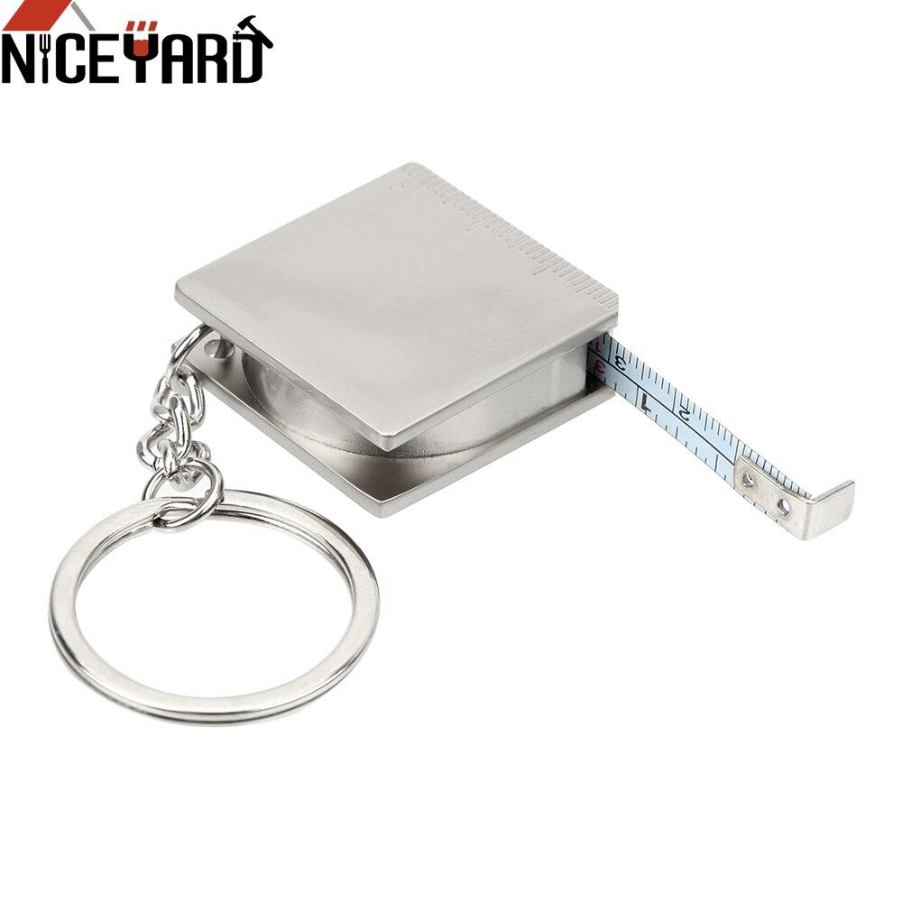 NICEYARD измерительные инструменты, рулетка для измерения брелок из нержавеющей стали измерительные инструменты линейка выдвижной брелок с ли...