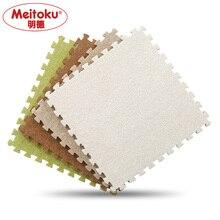 Meitoku Soft EVA Foam short fur puzzle baby play mat;9pcs interlock floor mat; Exercise mat,living room,9pcs/lot Each 32X32cm