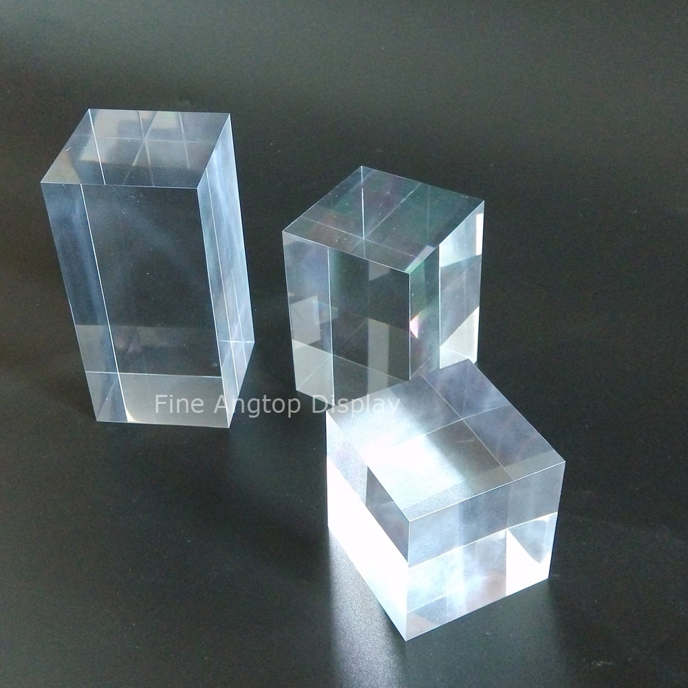 50*50*50/80/100mm Transparent Acrylic Counter Display Block For Jewelry Set Necklace Bracelet Rings Earrings Holder