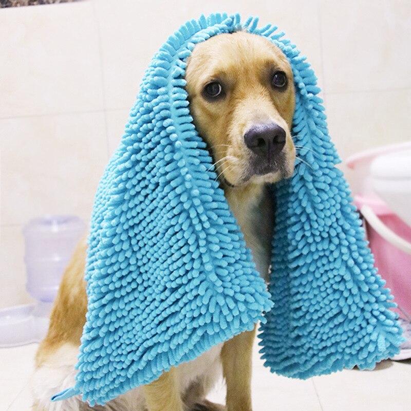 Pet Towel Fiber Chenille Dog Quick-drying Absorbent Towel Cat Puppy Big Dog Bath Towel Large Bath Towel Bath Supplies