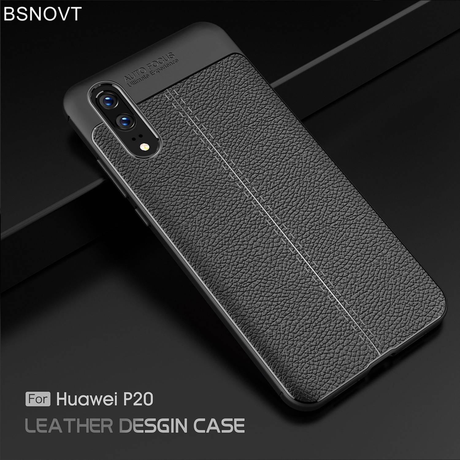For Huawei P20 Case Cover Soft TPU Silicone Luxury Leather Anti-knock Case For Huawei P20 Cover For
