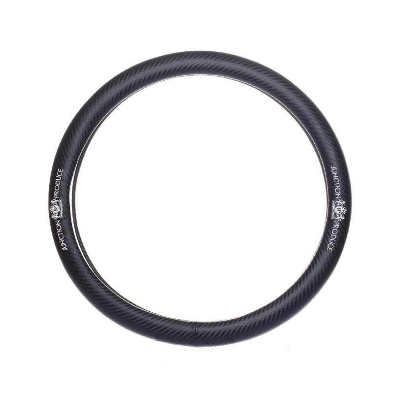 Car styling for Junction Produce JP VIP emblem diameter 38cm Carbon fiber steering wheel cover for Mercedes bmw Audi accessories