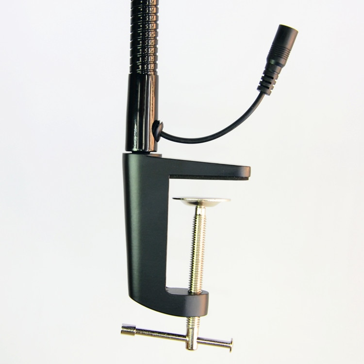 Купить с кэшбэком Hands-free Loupe Flexible Arm 5X 8X 10X Optional Magnifying Glass Lamp 2 in 1 Lighted Magnifier Desk Lamp Adjustable LED light