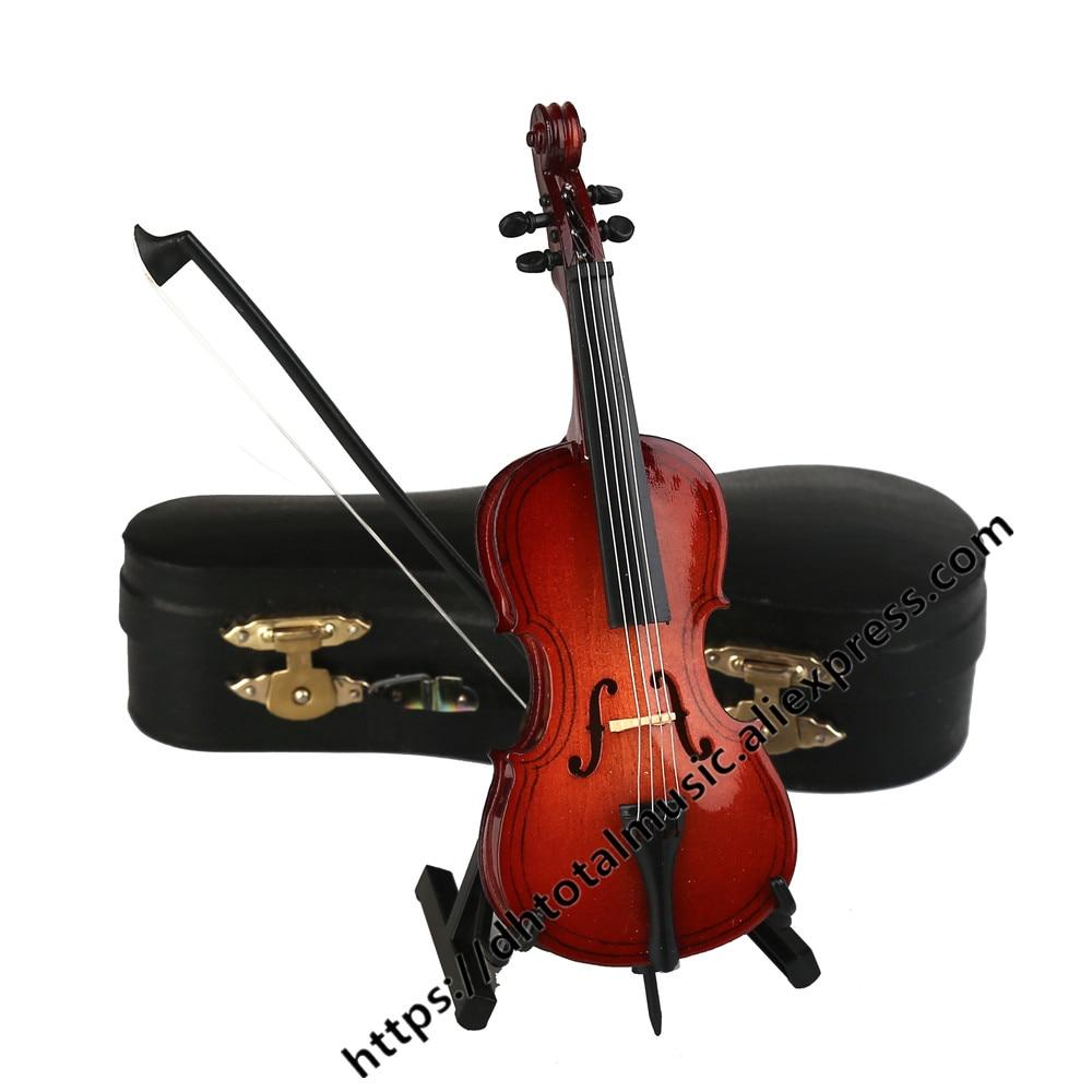 Mini violonchelo modelo instrumento Musical réplica adornos de regalo de Navidad decoración del hogar modelo de violonchelo en miniatura