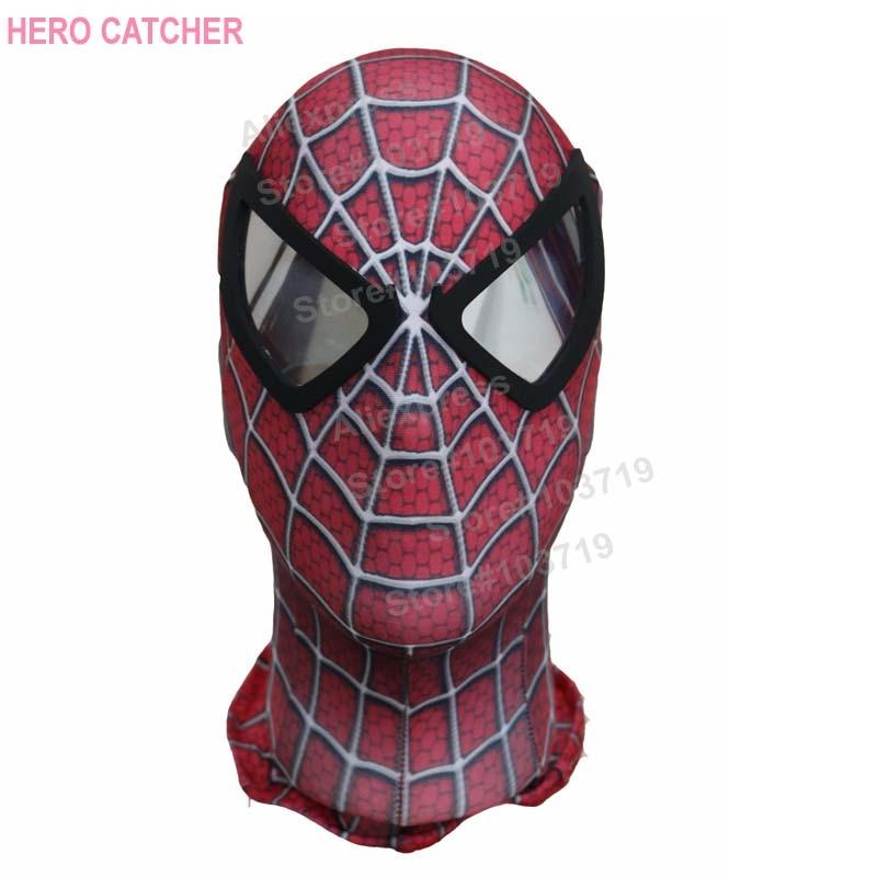 Hero Catcher  High Quality Custom Made Hero Raimi Spider-Man Cosplay Mask Spiderman Mask With Black Lenses Raimi Spdierman Mask