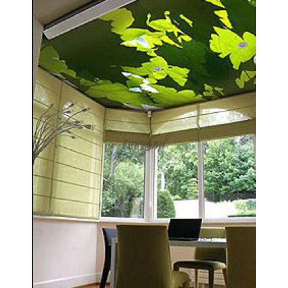 Decoración Interior materiales Digital impreso y de impresión UV falsa y de techo suspendido techo de estilo pop PVC film estirable