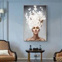 Toile affiche toile beaute papillon fille   Affiche nordique  photo de toile pour salon  decoration de maison  imprimes artistiques muraux