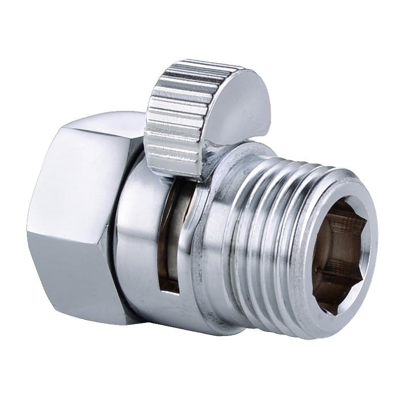 Cabezales de ducha cromados de cobre puro de alta calidad de 10 Uds. Cambio rápido a través de la válvula de cierre de manguera Válvula de acelerador sello G1/2