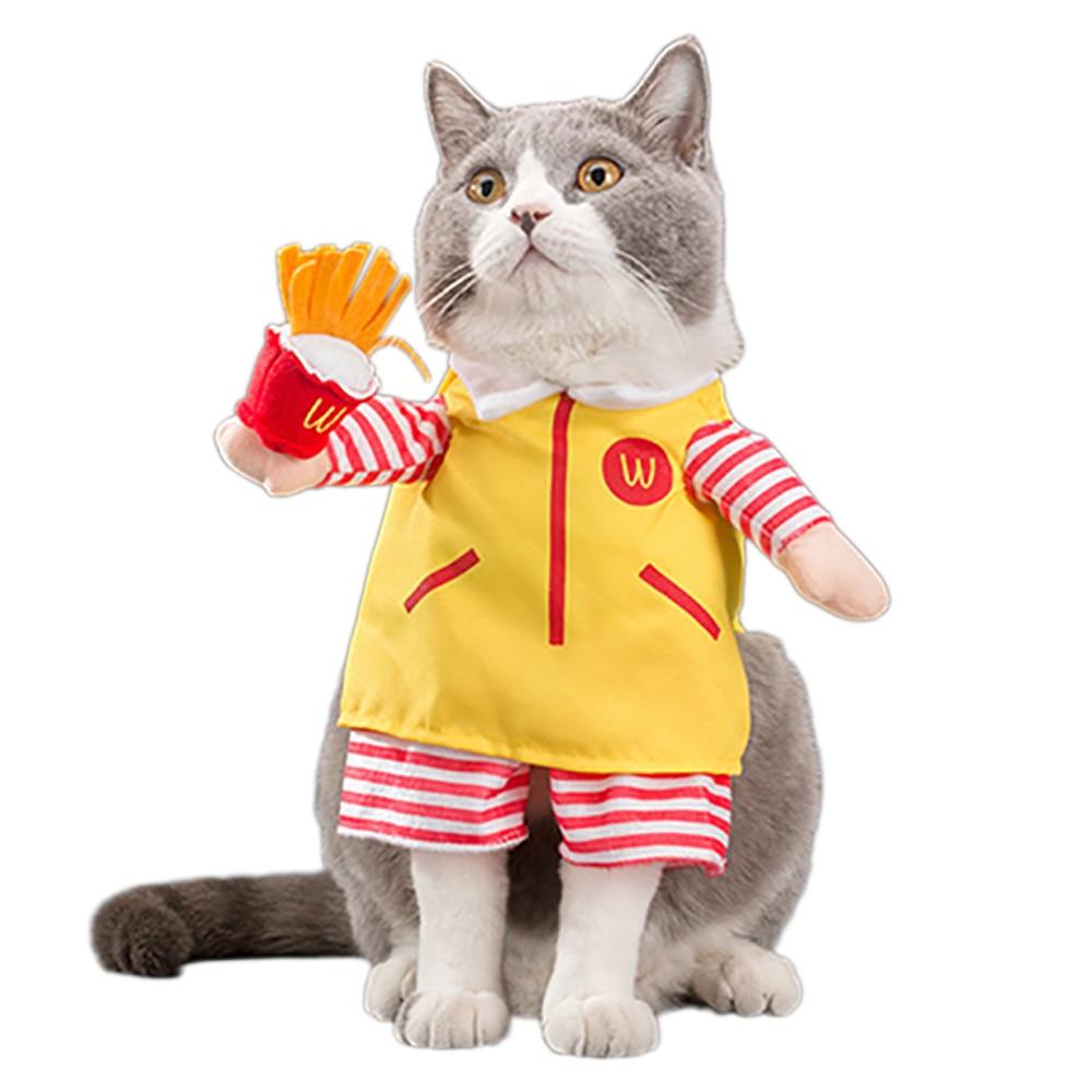 Disfraces divertidos para mascotas, ropa de camarero de Cosplay, mono de rol, ropa de Halloween y Navidad para cachorros y perros, disfraz para un gato