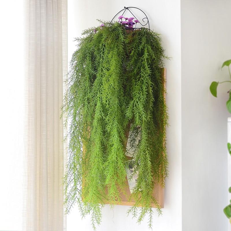 Planta Artificial de 105cm, aguja de pino de tacto Real, planta falsa para decoración de paredes de jardín, planta colgante de vid Artificial