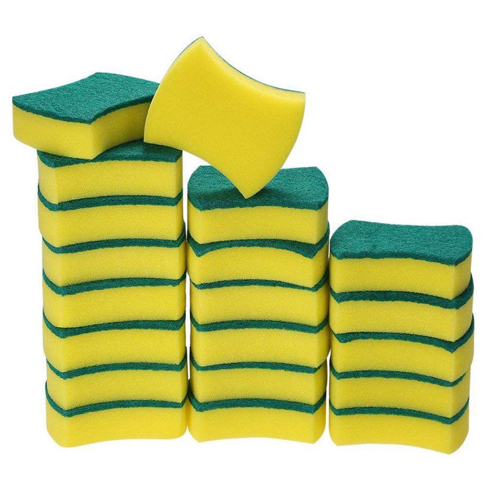 Best 20 Pack Multi-Use Heavy Duty Scrub Sponge Extra Thin Magic Cleaning Sponges Eraser Sponge For Kitchen Bathroom Furniture